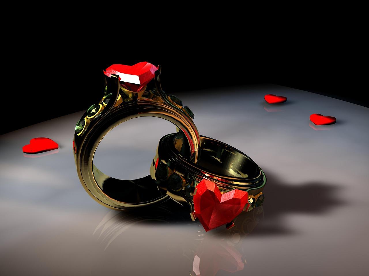Картинки колец любви