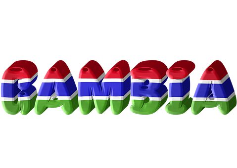 Gambia, Country, International, Flag, 3D
