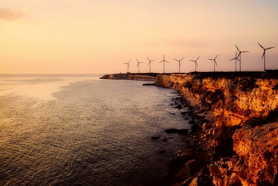 Truthahn, Windkraftanlagen, Energie, Meer, Ozean