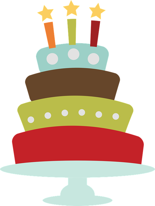 Birthday Cake Clip 183 Free Vector Graphic On Pixabay