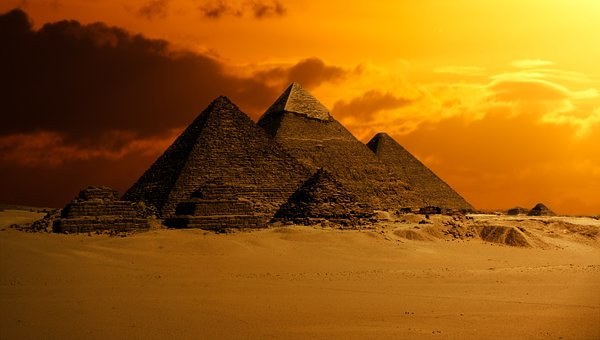 Pyramid, Sky, Desert, Ancient, Egypt