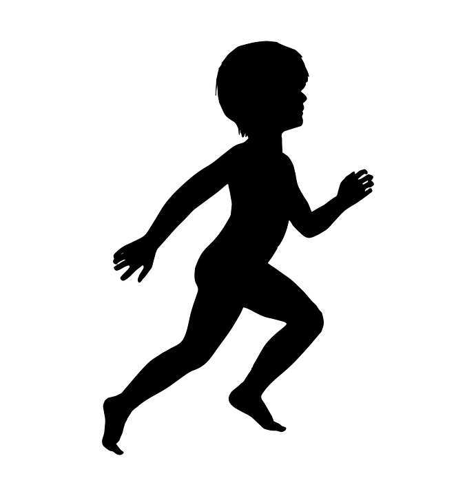 Boy Running Silhouette
