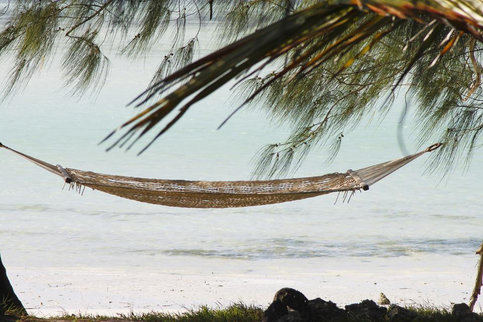 Hamac, Zanzibar, Vacances, Plage De Sable, Paradise