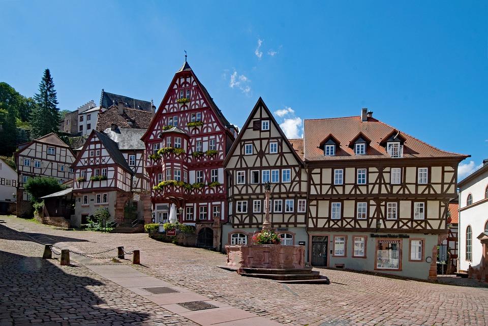 Marktplatz, Miltenberg, Odenwald, Bayern, Unterfranken