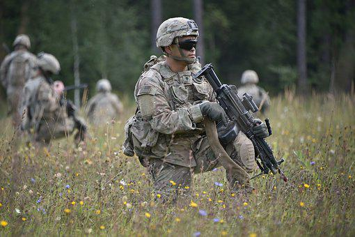 Soldiers, Firearm, Military, Training