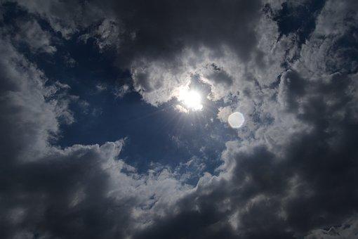Sol, Nubes, Nube, Nublado, panel solar