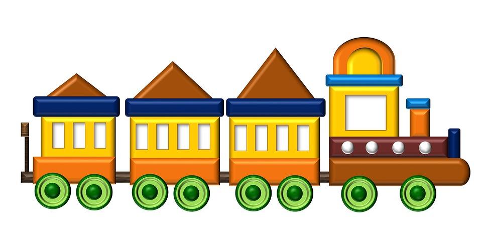 Tren Colorido Dibujos Animados Imagen Gratis En Pixabay