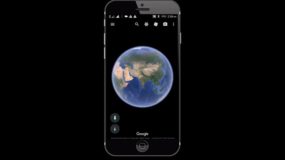 Free Illustration Google Earth Mobile Phone Free Image On - Google earth satellite