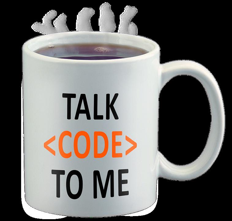 Código Geek, Hablar De Código A Mí, Taza De Café