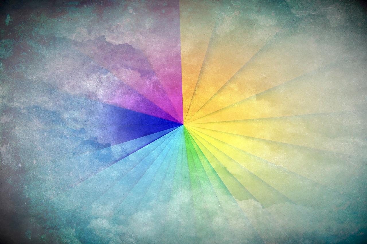 arcoiris triangulos