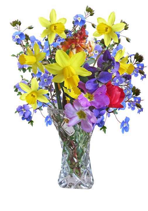 Free Photo Flower Vase Spring Arrangement Free Image