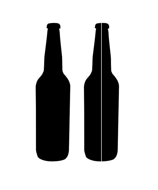 beer bottle alcohol free vector graphic on pixabay rh pixabay com beer bottle vector silhouette beer bottle vector free