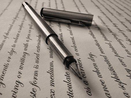 Caneta, Caneta Tinteiro, Escrito, Fonte