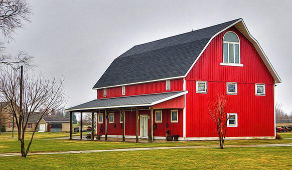 Red Barn Doors Clip Art barn - free pictures on pixabay