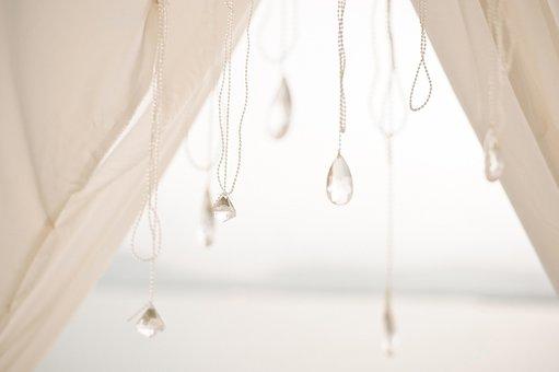 ビーズ, 結晶, 結婚式の装飾, 宝石, 結婚式, 装飾, 装飾品