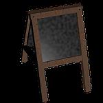 board, stand, blackboard