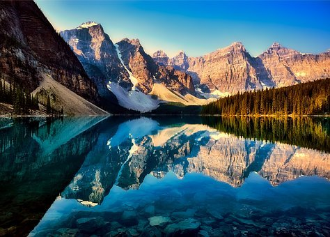 Moraine Lake, Mountains, Canada