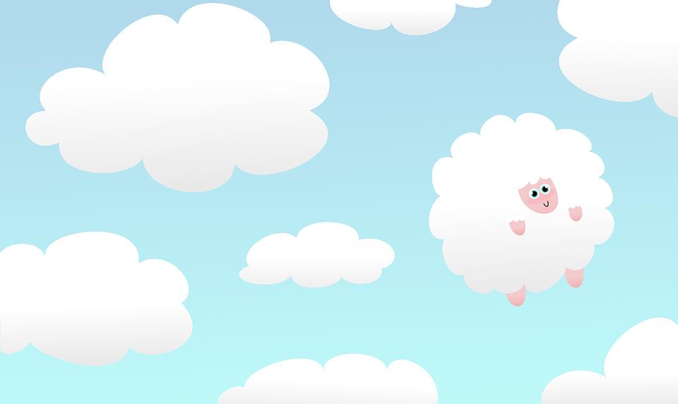 Ovejas Cielo Dibujo Imagen Gratis En Pixabay