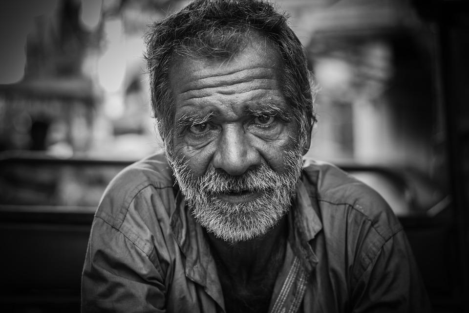 Old man portrait street man old senior person