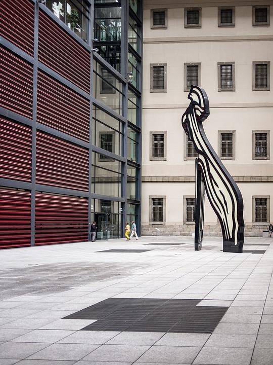 Museo, Edificio, Geometria, Reina Sofia, Madrid