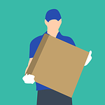 box, courier, delivering