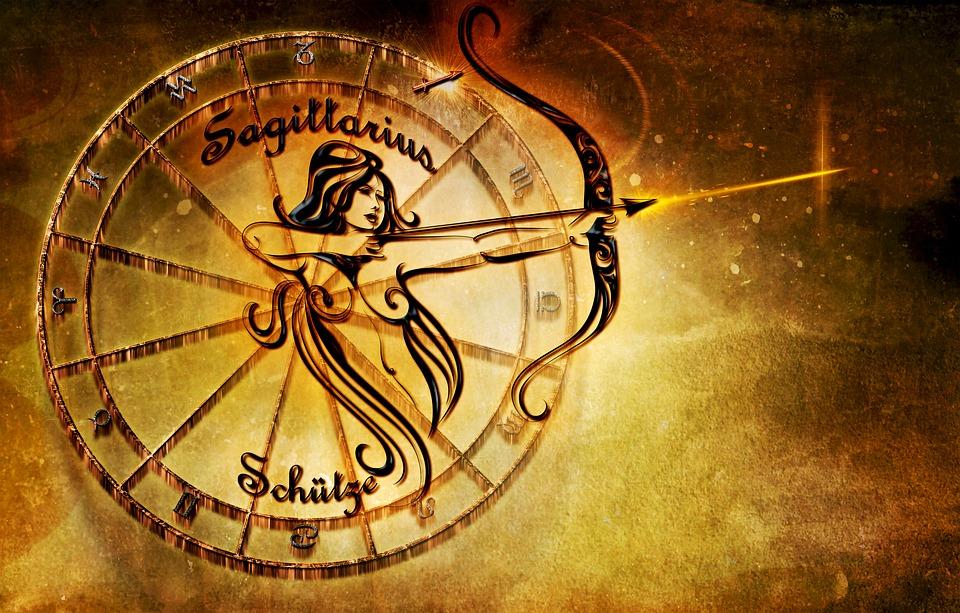 接触器, 星座, 占星術, シンボル, 黄道帯, 射手座, ニューエイジ, 解釈, オレンジ, 黄色, 茶色