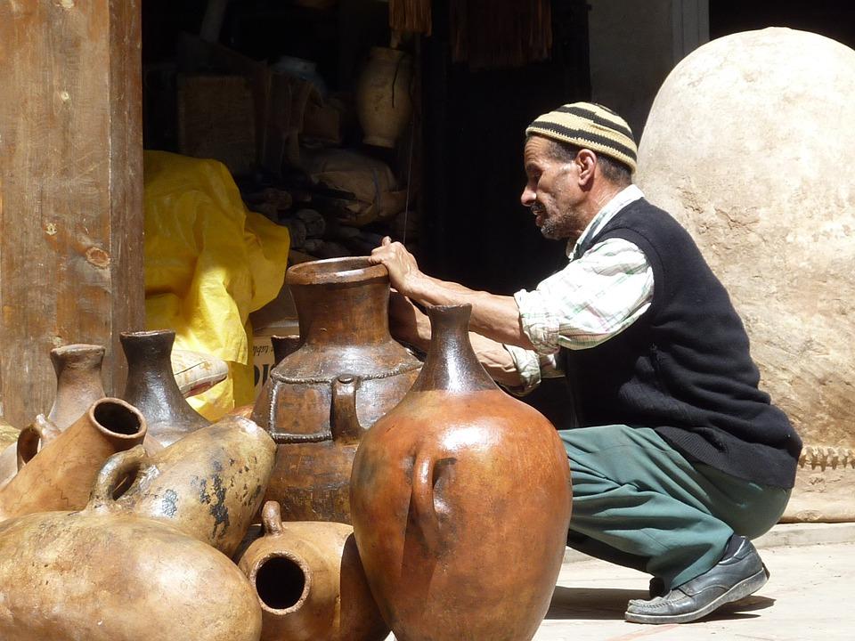 Maroc, Marrakech, Poterie, Potier