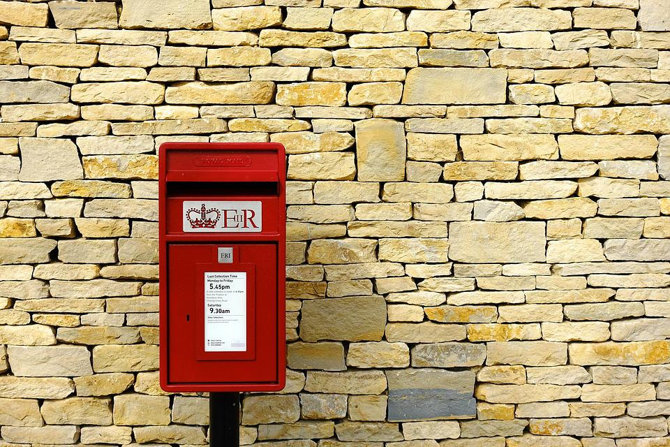 Post-Box, Post, Mail, Box, Wall, Dry, Stone