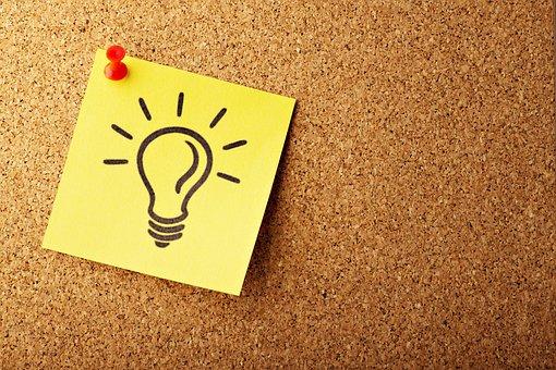 Lightbulb, Concept, Cork, Bulletin, Post