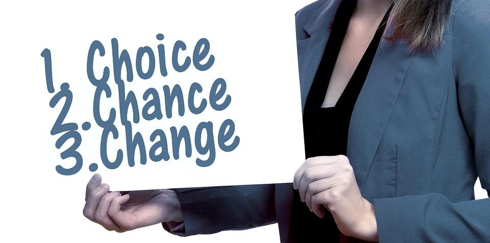 女性, シールド, 現在, 選択, チャンス, 機会, 変更, 意思決定, 代替, 手, オプション, 注文