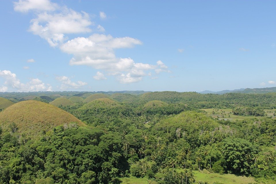 Collines De Chocolat, Philippines, Bohol, Scénique