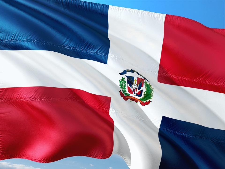 国際, フラグ, ドミニカ-共和国