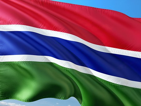 International, Flag, The Gambia