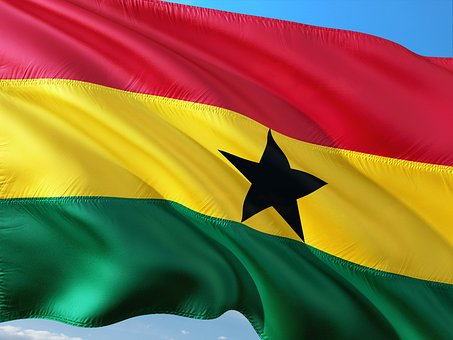 International, Flag, Ghana, West Africa