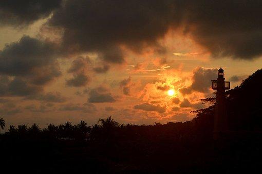 Costa Rica, Sunset, Sky, Nature, Costa