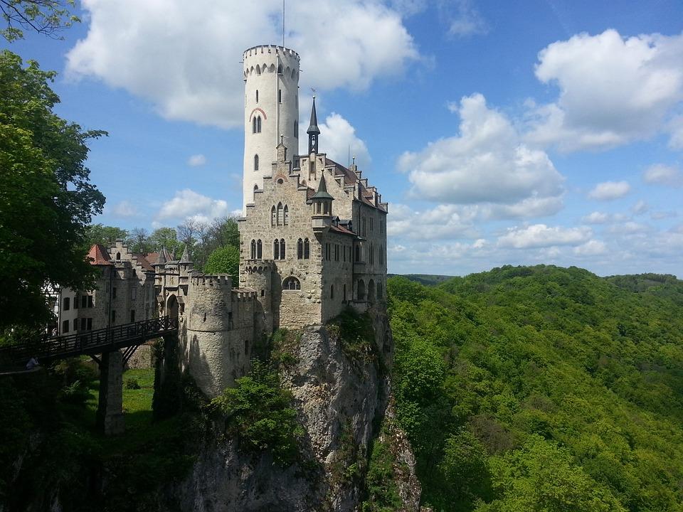 Zamek, Zamek Lichtenstein, Reutlingen, Niemcy