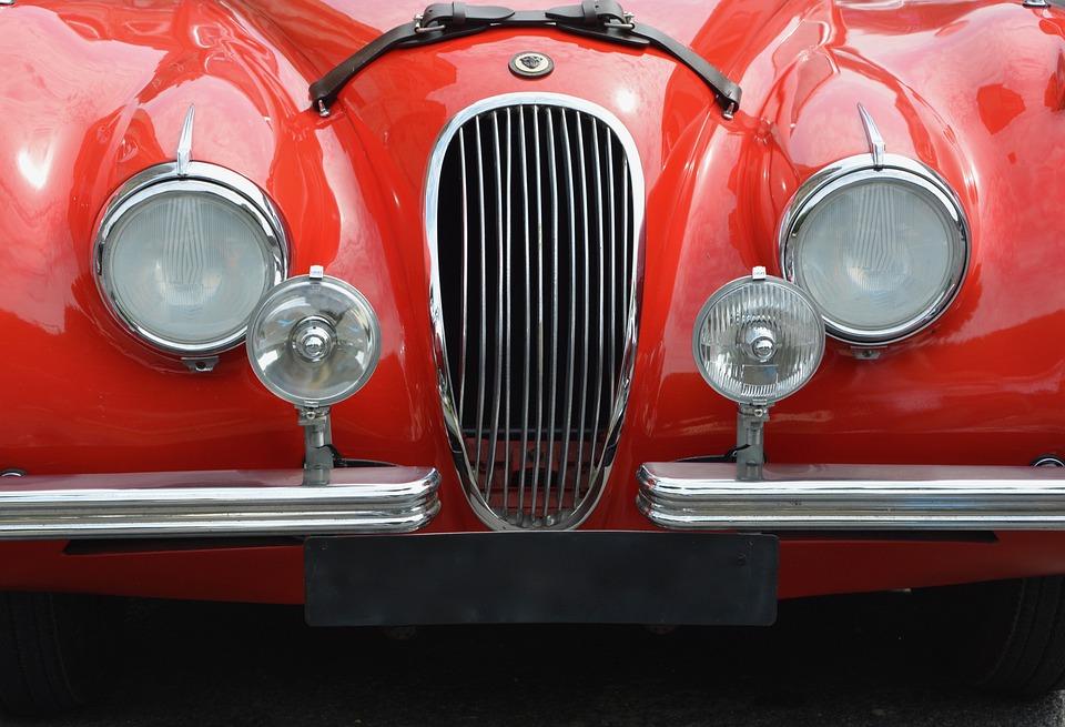 車, 灯りの中古車, ザ-カーコレクション, 赤い車体