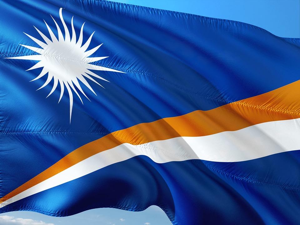 国际的, 横幅, 旗帜, 马绍尔群岛, 大洋洲