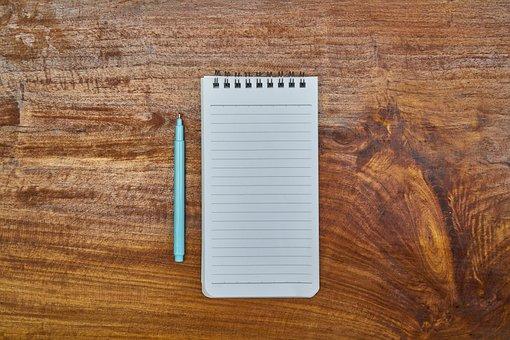 Notebook, Pen, Blue, Literature, Map