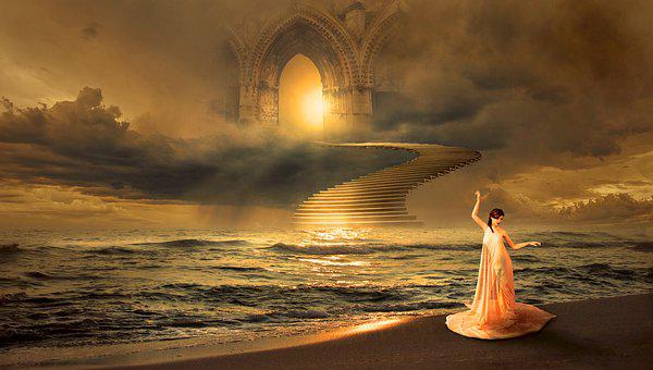 Fantasy, Sea, Mystical, Romantic