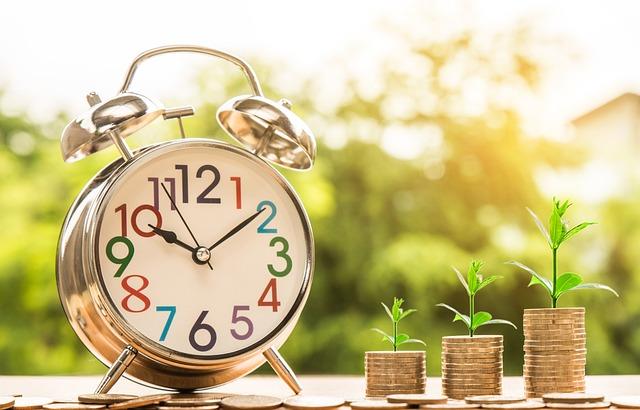 クロック, お金, 成長, 時間, 時間管理, 財務管理, コンセプト, アイデア, ファイナンス, ビジネス