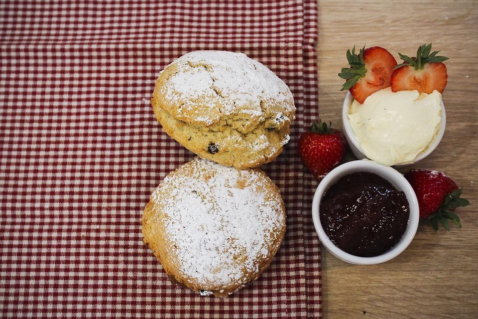 Scones, Afternoon Tea, Cream Tea, Cakes, Strawberry Jam