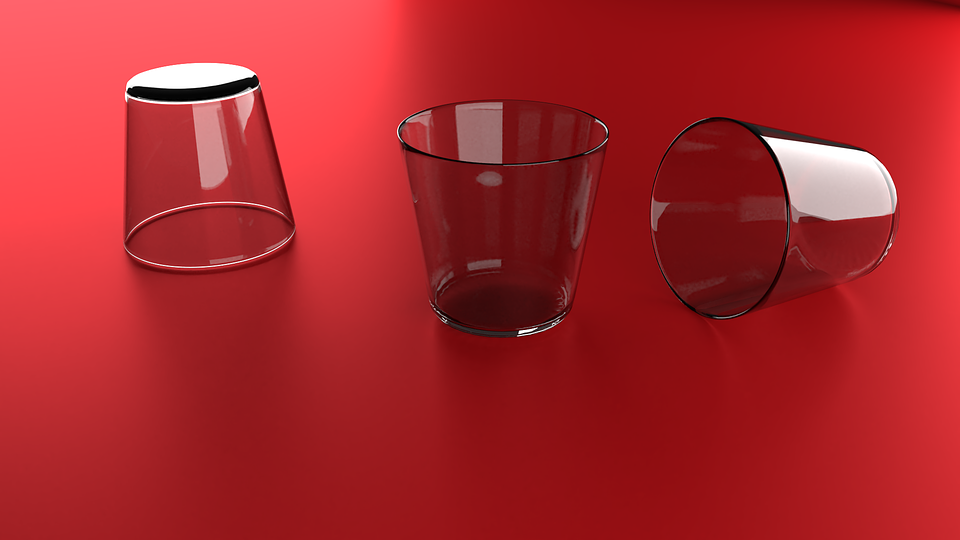 Cups Glass Red Table