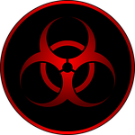 biohazard, red, sign
