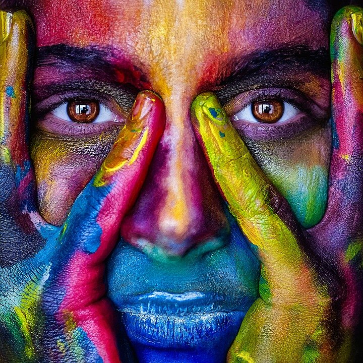 Girl, Face, Colorful, Colors, Artistic, Model, Person