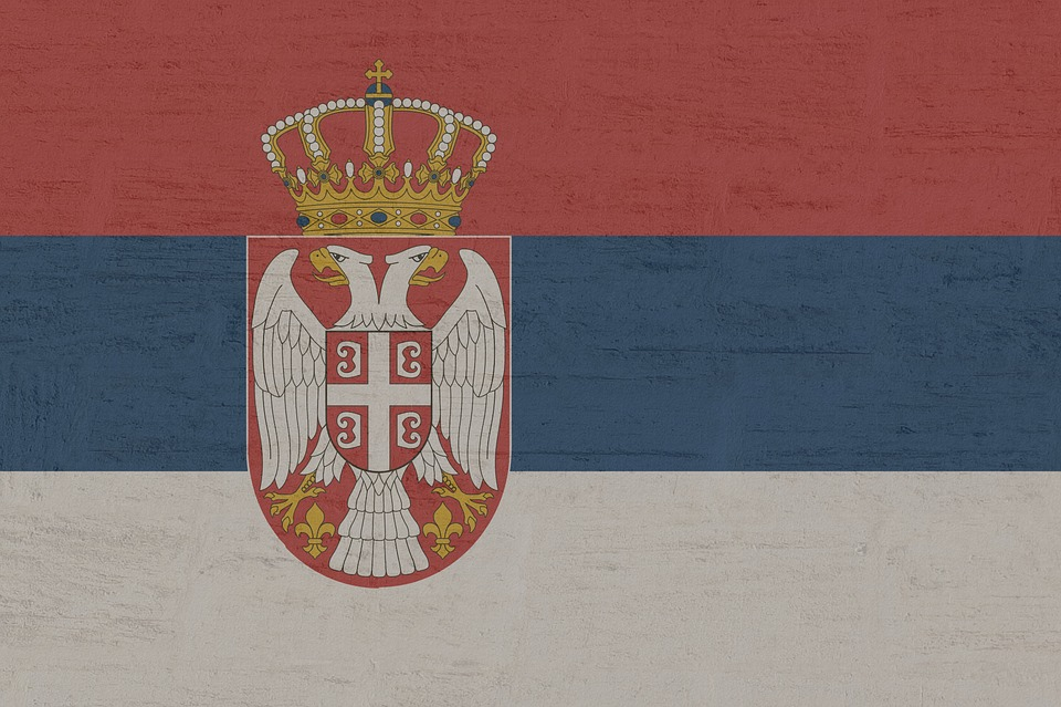 Serbien, Flagge