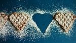 waffles, icing sugar