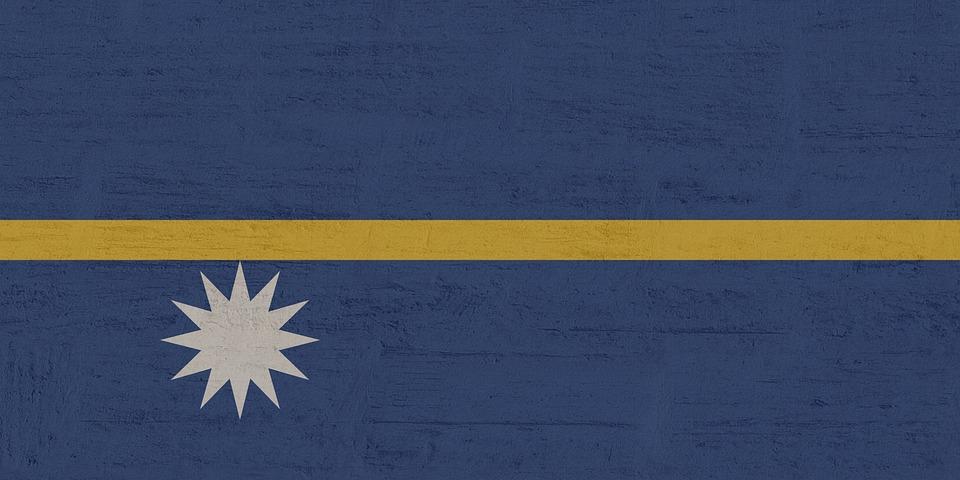 Nauru, Banderą, International