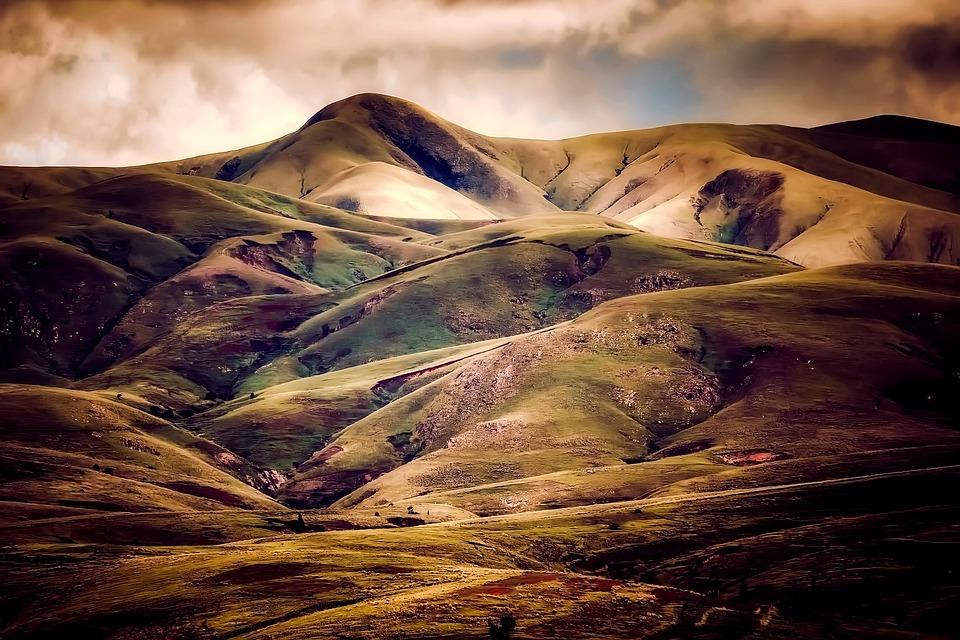 アイスランド, 山, 空, 雲, 自然, アウトドア, 風景, 丘, 国, 田舎, 日没, 日の出