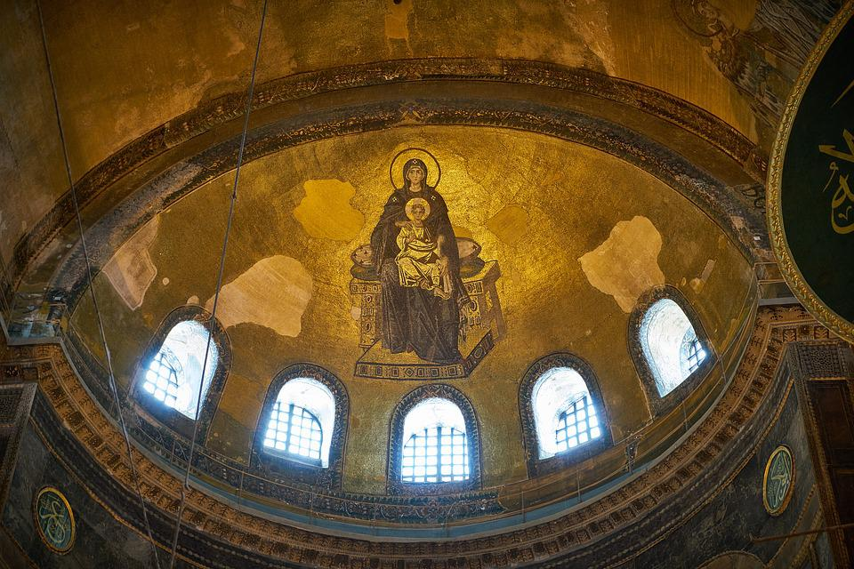 Church, Pictures, Faith, Hagia Sophia, Historical Works